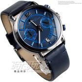 MARC JACOBS 海軍藍 IP黑電鍍 雙環計時 儀表板風格日期顯示計時碼錶 MBM5068  眼亮色調質感真皮皮帶