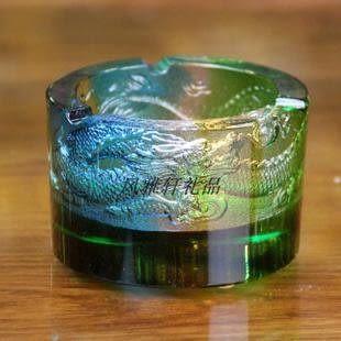 九龍聚財 琉璃煙灰缸 辦公桌面擺設 商務禮品 父親節 生日禮物