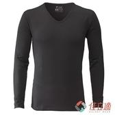 【南紡購物中心】3M-佳立適-升溫蓄熱保暖衣-男V領-灰色