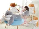 可愛倉鼠椅子靠背座椅靠枕孕婦床頭沙發大抱枕辦公室護腰靠墊腰枕igo