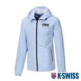 K-SWISS Color Zip Jacket防風外套-男-天藍