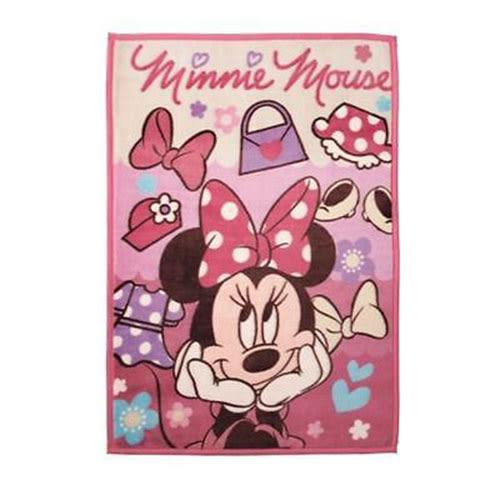 《丸真》迪士尼米妮兒童用單人毛毯M(美麗小物)_RS56179