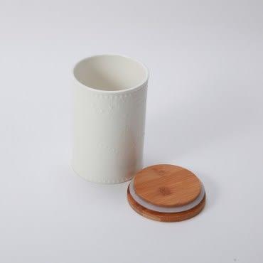 典雅蕾絲紋密封罐-1050ml