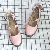 娃娃鞋 春夏圓頭小皮鞋女粉色韓版街拍日系軟妹洛麗塔學生平底單鞋娃娃鞋