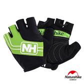 Naturehike 脫環加厚耐磨戶外運動騎行半指手套 綠色L