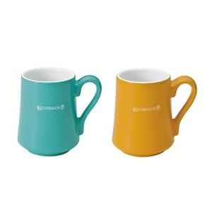 fujidinos-《KEVNHAUN》陶瓷馬克杯雙色2件組(黃x藍綠)