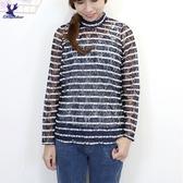 【秋冬新品】American Bluedeer - 半高領條紋上衣 二色