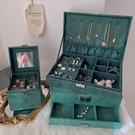 大容量多層歐式首飾盒復古耳釘耳環項錬飾品展示架收納盒抽屜寶箱 初語生活