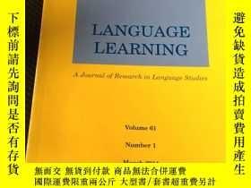 二手書博民逛書店LANGUAGE罕見LEARNING語言學習Y23583 語言學習 英文原版