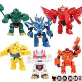 兒童禮物奧迪雙鉆超變武獸泰戈變形機器人神獸召喚器勇者戰神男孩玩具金剛LXY6618【黑色妹妹】
