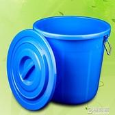 大垃圾桶大號環衛容量廚房戶外無蓋帶蓋圓形特大號商用塑料家用  ATF  全館鉅惠