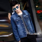 牛仔外套—春秋季青年男士牛仔外套男寬鬆夾克修身帥氣韓版上衣潮流學生男裝 Korea时尚记