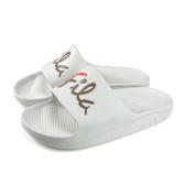 FILA 拖鞋 戶外 防水 女鞋 白色 4-S326U-117 no072