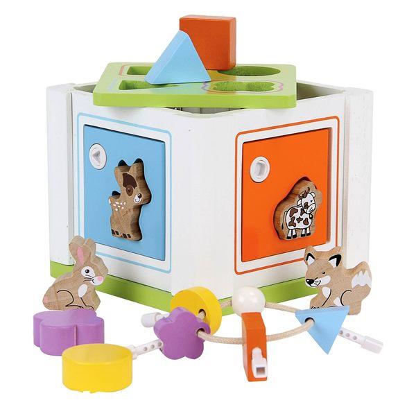 【Mentari 木製玩具】 益智解鎖配對積木寶盒