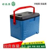 保鮮櫃宅配櫃冷藏櫃戶外便攜式保溫櫃手提式高密度EPP泡沫櫃 22升 現貨快出