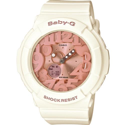 BGA-131-7B2 白x橘 Baby-G 純真與夢幻 運動錶