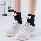 大眼睛襪子女中筒襪秋冬堆堆襪女可愛日系ins長襪女潮網紅款韓國 黛尼時尚精品