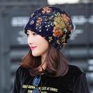 春夏蕾絲包頭帽子 薄款月子帽頭巾空調帽光頭化療帽女透氣堆堆帽 店慶降價