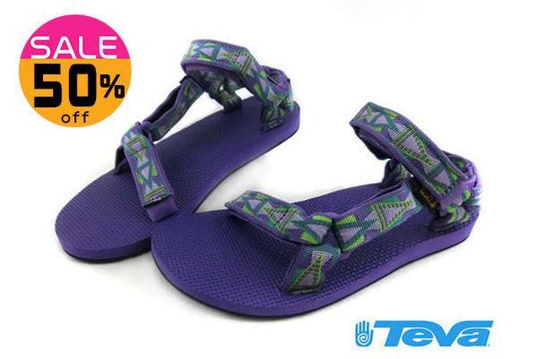 美國TEVA戶外織帶涼鞋W ORIGINAL UNIVERSAL 經典復刻版水陸運動涼鞋H6569#紫 零碼出清