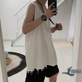 運動男士無袖T恤外穿夏季韓版內搭打底衫【邻家小鎮】