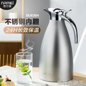 德國NRMEI保溫壺家用熱開水瓶304不銹鋼大容量暖水壺暖瓶歐式杯2L 創意空間