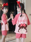 純棉女童兒童睡衣女孩夏季薄款短袖夏天公主套裝中大童寶寶家居服