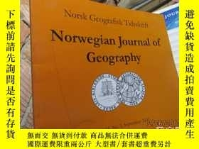 二手書博民逛書店norwegian罕見journal of geography