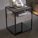 床头柜 輕奢風床頭柜北歐極簡鐵藝床邊柜現代簡約臥室床頭儲物柜客廳邊幾【快速出貨八折鉅惠】