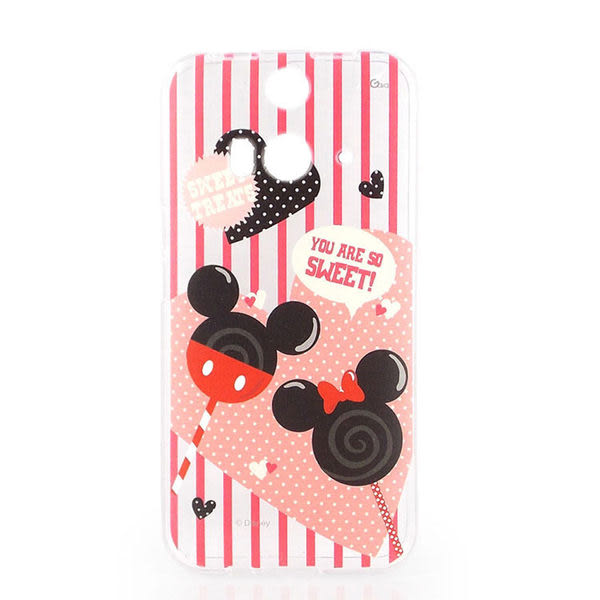 【Disney 】HTC Butterfly 2 彩繪可愛透明保護套-棒棒糖