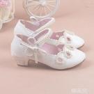 女童公主鞋 新款女童真皮鞋兒童鞋女童公主單鞋韓版潮寶寶女童高跟皮鞋 韓菲兒