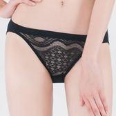 思薇爾-星願秘密系列M-XL蕾絲低腰三角內褲(黑色)