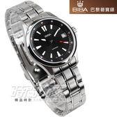 BIBA 碧寶錶 蜂巢線條設計 不銹鋼帶 黑色女錶 B321S101B