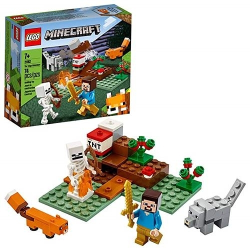 LEGO 樂高 Minecraft The Taiga Adventure 21162 磚建築玩具 (74 件)