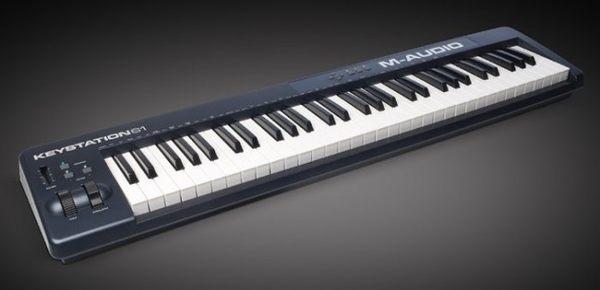 【金聲樂器廣場】 M-AUDIO Keystation 61es 高級61鍵半重量的USB鍵盤控制器
