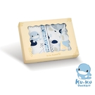 KU KU 酷咕鴨 超好眠洞洞成長包巾 寵愛禮盒(3件組)【佳兒園婦幼館】