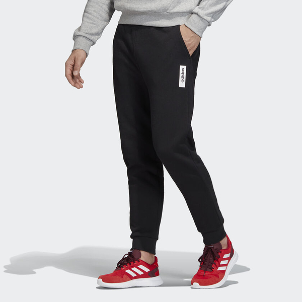 Adidas BRILLIANT BASICS 男裝 長褲 休閒 縮口 黑【運動世界】EI4619