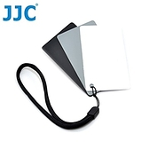 【南紡購物中心】JJC三合一18灰卡+90反射白平衡卡+黑卡即GC-2(名片大小,3片裝)