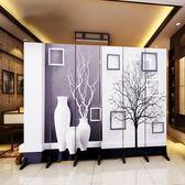 訂製      歐式屏風隔斷墻客廳臥室現代簡約時尚折屏移動折疊雙面布藝玄關igo      琉璃美衣