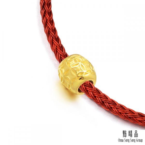 點睛品  Charme  文化祝福-銅錢轉運珠  黃金串珠