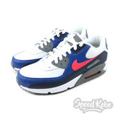 Nike Air Max 90 Essential 白藍 螢光橘Logo 慢跑 男鞋 537384-135 【Speedkobe】