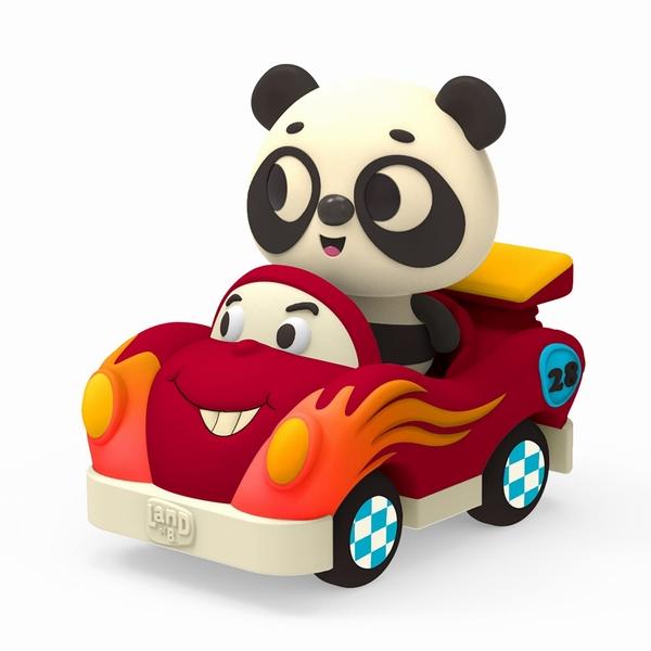《 美國 B.toys 感統玩具 》迷你車長 - 熊貓與飛迪 / JOYBUS玩具百貨