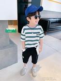 童裝男童T恤短袖夏季2020新款兒童純棉條紋上衣中大童夏裝潮