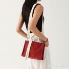 韓國小眾橫款側背斜背包手提包女包簡約百搭上班帆布包女韓版小包 黛尼時尚精品