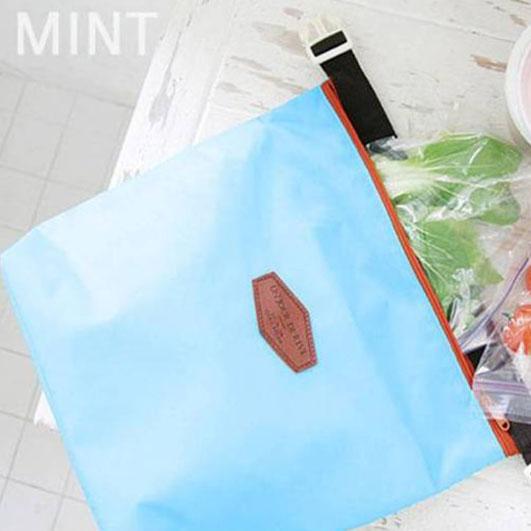 Qmishop 保冷袋 副食品保溫袋 午餐袋 便當袋 扣式可折疊保溫包【J3073】