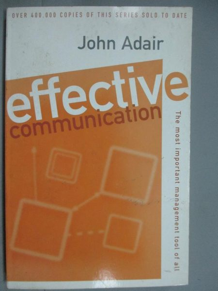 【書寶二手書T2/原文書_HQS】Effective Communication_John Adair