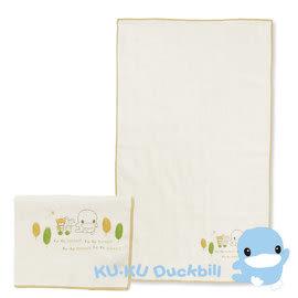 KUKU 酷咕鴨 有機緹花紗布澡巾(2入)