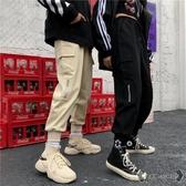 工裝褲 春女裝BF風寬鬆工裝束腳褲高腰哈倫褲燈籠褲休閒褲學生 - 歐美韓熱銷
