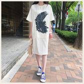 ✦Styleon✦正韓。夏日棕梠葉長版短袖洋裝連身裙。韓國連線。韓國空運。0612。