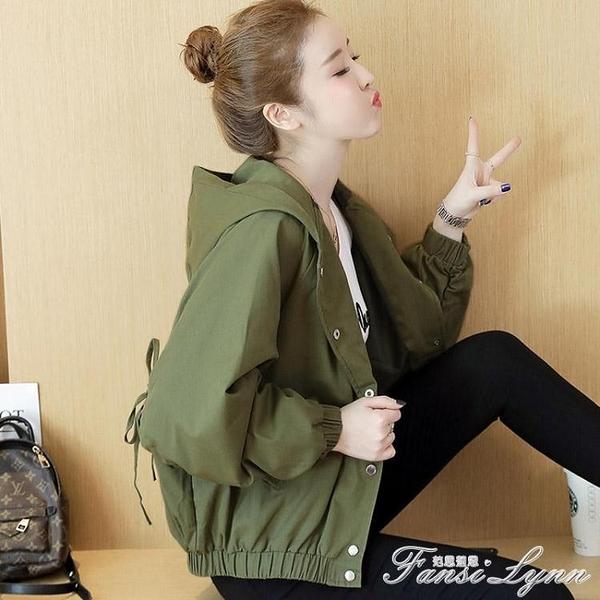 風衣短款外套女2020秋裝新款韓版寬鬆學生bf風開衫外套港味夾克衫 范思蓮恩
