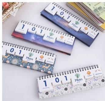 [24hr-快速出貨]  萬年曆 組裝 積木 拼圖 日曆 桌曆 diy 創意 多變 造型 有趣 擺設
